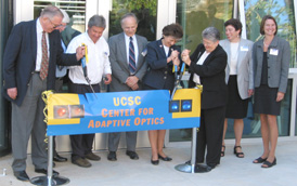 Photo of dedication of the new Center for Adaptive Optics