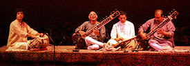Photo of sitar musicians