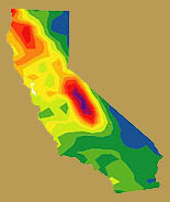 graphic of precipitation projection for California