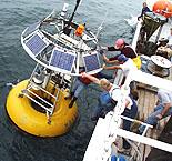 Photo of a deep-ocean mooring