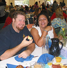 Photo of 2004 staff breakfast