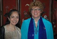 Radha Basu and Chancellor Denice D. Denton