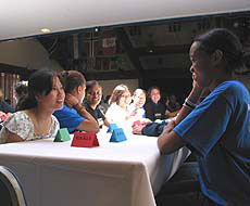 Photo of students at table