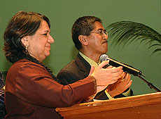 Anuradha Luther Maitra and Dom Siababa