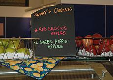 Organic food sign
