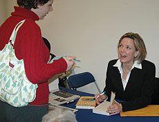 Photo: Dana Priest signing books