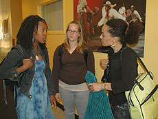 Photo: Gina Dent with students