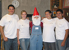 Students with gnome