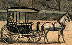 Lithograph: horse and buggy