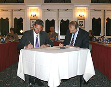 Photo of signing