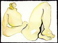 Nudus Fructus III, watercolor on paper