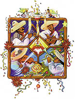 Fiesta Navidad illustration